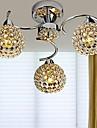 40WX3 Ljuskronor ,  Modern / Glob Krom Särdrag for Kristall / Flush Mount Lights Metall Living Room / Bedroom / Sovrum / Studierum/Kontor