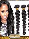 """blandat längd 20 """"22"""" 24 """"lös våg brasilianska jungfru hår väva 3 buntar 300 gram obearbetade naturliga färg förlängningar"""