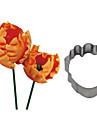 Four-C rostfritt stål fräs papegoja tulpan blomma kex tårta kakmått baka kaka fondant dekorera mögel
