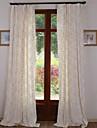 Två paneler Rustik / Nyklassisistisk / Medelhavet / Designer Vinranka Vit / Enligt bilden Bedroom Linne/Bomull blendPanelgardiner