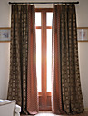 Two Panels Yarn Dyed Jacquard Panel Curtains Drapes
