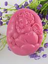 sova ängel formad tvål mögel Mooncake mögel fondant tårta choklad silikon mögel, dekoration verktyg bakeware