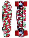 jordgubb tryckt plast skateboard 22 tums mini cruiser med ABEC-9 kullager