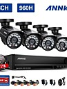 ANNKE 8CH 960H HDMI DVR 800TVL Outdoor CCTV Home Security Camera System HD