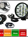 Lampes Frontales / Eclairage de Velo / bicyclette / Lampe Avant de Velo LED Cree XM-L T6 CyclismeEtanche / Rechargeable / Resistant aux