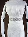 Dress Waist White Belt Hand Sewn Crystal Rhinestone Jewelry Bride