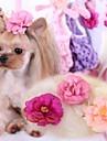 Katter / Hundar Hårtillbehör / Rosetter Rosa / Ros Hundkläder Vår/Höst Bröllop / Cosplay