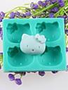 quatre tetes d\'animaux fondant gateau moules en silicone de chocolat, des outils de decoration ustensiles de cuisson