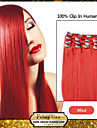 clip in hair extensions red