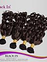 "4st / lot 8 ""-28"" obearbetat brasilianska jungfru hår mörkbrun spiral curl människohår väva 100% människohår"