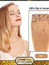 """18 """"7st strawberry blonde (# 27) klipp i remy människohår förlängningar"""