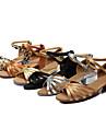 Zapatos de baile (Negro/Marron/Plata/Oro/Leopardo/Otros) - Danza latina - Personalizados - Tacon grueso