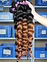 3st / lot brésilien cheveux humaines virgin lös våg 2 ton ombre 1b / 30 couleur les förlängningar des cheveux noirs