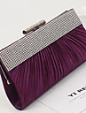 Women \'s PU Minaudiere Clutch/Evening Bag - Purple/Brown/Red/Black