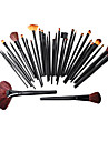 32pcs Pro Cosmetic Tool Makeup Brush Set Kit With Roll Up Black Bag Case