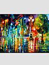 Peint a la main Paysages AbstraitsModerne Style europeen Un Panneau Toile Peinture a l\'huile Hang-peint For Decoration d\'interieur