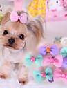 Katter / Hundar Hårtillbehör / Rosetter Blå / Rosa / Purpur Hundkläder Vår/Höst Bröllop / Cosplay