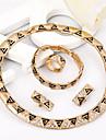 Plaque or grossier 2014 nouveau collier des femmes sexy + boucles d\'oreilles ensemble de bijoux noire pour le mariage de mariee mariee