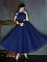 Rochie de înaltă rochie lungă de ceai spandex rochie de seară formală cu paiete / panglică paiete
