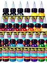 solong Tattoo Ink 21 färger set 1oz 30 ml / flaska tatuering pigment kit