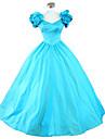One-Piece/Dress Gothic Lolita Steampunk® Cosplay Lolita Dress Blue Solid Sleeveless Long Length Dress For WomenCotton / Lace / Terylene /