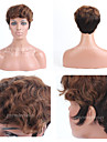 Premierwigs Double Tone Short Curly Capless Brazilian Virgin Human Hair Wigs For Black Women