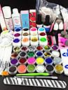 80pcs glitter uv färg Rengöringsgel primer nail art kit set