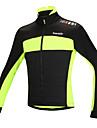 SANTIC Veste de Cyclisme Homme Velo Veste Hauts/Tops Garder au chaud Pare-vent Design Anatomique Doublure Polaire Bandes Reflechissantes