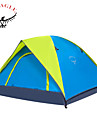 OSEAGLE 3-4 personnes Tente Tentes de Randonnee Une piece Tente de camping 1500-2000 mm Nylon Oxford TaffetasResistant a l\'humidite