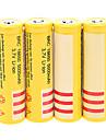 brc 5000mAh 18650 batteri (4st) + 4 st / lot hårdplast batteri förvaringslåda för 18650 batteri