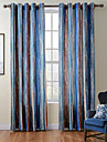 TWOPAGES® Diana Collection Contemporary Thick Knit Velvet Stripe Curtain Drape One Panel