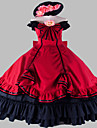 Steampunk®Red Gothic Victorian Dress Period Dress European Long Ball Gown Stage Costume