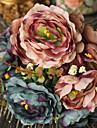 1 Une succursale Polyester Plastique Pivoines Fleur de Table Fleurs artificielles 11.8