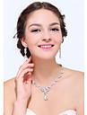Women\'s Silver Rhinestone Cubic Zirconia Alloy Jewelry Set