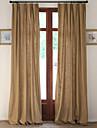 Deux Panneaux Le traitement de fenetre Designer Rustique Moderne Neoclassique Europeen , Solide Salle de sejour Melange Lin/Coton Materiel