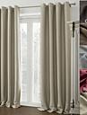 En panel Modern / Medelhavet / Designer Solid Beige / Grå / Burgundy / Choklad / Kaffe Living Room Polyester Panelgardiner draperier
