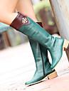 Chaussures Femme - Exterieure / Bureau & Travail / Decontracte - Noir / Vert / Rouge - Talon Plat - Rangers / Bout Arrondi - Bottes -
