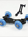professionell bords dslr kamera dolly reglaget skater hjul lastbil stabilisator för 5D2 eos video 11 tums magiska händer