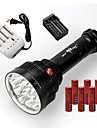 Lampes Torches LED LED 3 Mode 22000 Lumens Etanche / Rechargeable / Resistant aux impacts / Tete crenelee / Tactique / UrgenceCree XM-L
