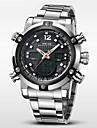 WEIDE Bărbați Ceas de Mână Quartz Quartz Japonez LCD Calendar Cronograf Rezistent la Apă Zone Duale de Timp alarmă Ceas SportOțel
