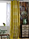 rokoko rum mörkare linne broderade blad gardiner draperier två panel