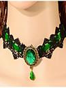 Dame Coliere Choker Piatră Preţioasă Aliaj La modă Verde Bleumarin Bijuterii Ocazie specială Zi de Naștere