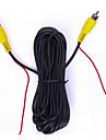dearroad AV RCA cable d\'extension / cordon cable video rallonge 6m avec connecteur pour la camera de vision arriere et moniteur de voiture