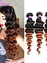 A Ombre Cheveux Bresiliens Ondulation Lache 12 mois 3 Pieces tissages de cheveux