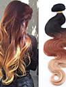 """3pcs / lot 8 """"-30"""" brasilianska jungfru hår brasilianska ombre silver hårförlängning ombre flerfärgade hårförlängning"""