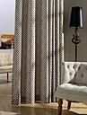 Deux Panneaux Le traitement de fenetre Neoclassique Rustique Moderne Chambre a coucher Melange Poly/Coton Materiel Rideaux Tentures