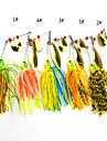 4 st Mjukt bete / Fiskbete Mjukt bete / Spinnfluga phantom / Blandade färger 16.3 g Uns,100 mm tum,Metall / SilikonSjöfiske / Drag-fiske