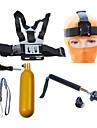 Accessoires pour GoPro,Perche Telescopique Fixation Frontale Monopied Trepied Avec Bretelles Fixation Etanches Flottant, Pour-Camera