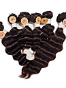 brasilianische reine tiefe Welle Menschenhaar spinnt # 2 dunkelbraun Bestnote tiefe Welle Haar Webereien