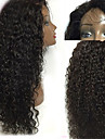 """Unprocessed 10""""-24"""" Virgin Brazilian Hair Natural Color Kinky Curly 130% Density Lace Front Wig"""